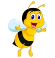 Cute bee cartoon vector image