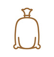 flour bag line icon sign for production of bread vector image