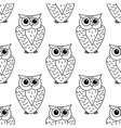 Horned owl seamless background pattern vector image