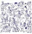 musicians - cartoons set vector image