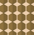 Retro fold green striped hexagons vector image