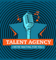 talent agency logo emblem with star and vector image