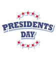 Presidents Day USA logo symbol isolated vector image