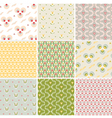 seamless pattern with floral fabric texture vector image vector image