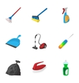 House cleaning icons set cartoon style vector image