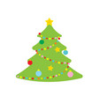 picture of christmas tree vector image