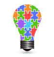 light bulb puzzles vector image vector image