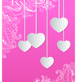 paper hearts for Valentines day vector image