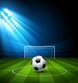 Football arena stadium with a soccer ball vector image