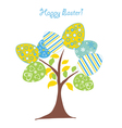 easter background tree vector image