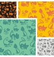 Cats and kittens - seamless pattern set vector image