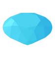 diamond icon isometric 3d style vector image