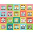 Different stores and shops icons set flat design vector image