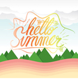 Hello Summer Hand Lettering Summer Vacation vector image