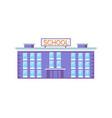 huge school building vector image