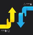 Modern infographics design arrow options banner vector image