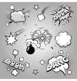 Set of comics boom vector image