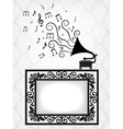 music card with gramophon vector image