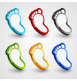 3d footprint collection vector image vector image