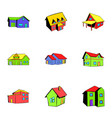property icons set cartoon style vector image vector image