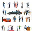 bodyguard icons set vector image