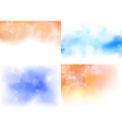 Transparent backgrounds collection vector image vector image