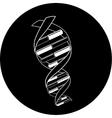 DNA icon vector image vector image
