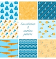 Marine patterns collection 2 vector image