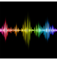 Colorful music equalizer background vector image