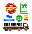 Free Shipping Badges And Icons vector image