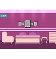 Flat Interior Bedroom vector image
