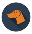 Icon of hinting dog had vector image
