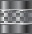 metal background with perforated section vector image