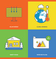 solar energy global warming smart house vector image