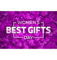 womens day best gifts vector image