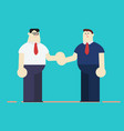 flat cartoon business men characters style vector image