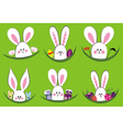 Colorful easter rabbit collection vector image vector image