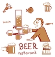 Beer restorant vector image