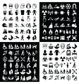 Graphic icon collection vector image