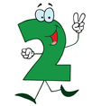 funny cartoon numbers-2 vector image