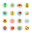Mothers Day icons comics style vector image