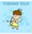 Collection stock of cupid character valentine vector image