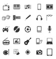 Entertainment icons on white background vector image