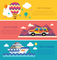 flat traveling set vector image