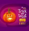 halloween trick or treat poster vector image