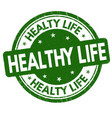 healthy life sign or stamp vector image