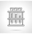 Laboratory tests flat line icon vector image