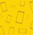 mobile devices smartphone pattern yellow vector image