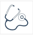 Phonendoscope stethoscope isolated on white vector image