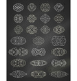 set of chalk geometric ornaments vector image